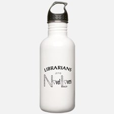 Funny Kiss the librarian Water Bottle