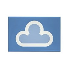White Cloud Symbol Rectangle Magnet (10 pack)