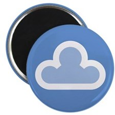 "White Cloud Symbol 2.25"" Magnet (10 pack)"