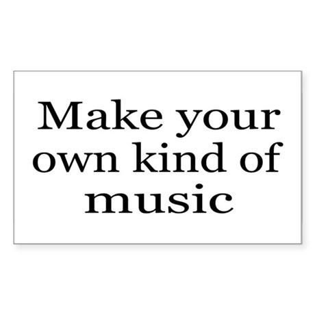 Make Your Own Music Sticker Rectangular By Myfavoritetees