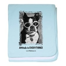 Attitude is Everything baby blanket
