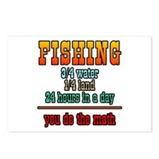 Fishing, You Do The Math Postcards (Package of 8)