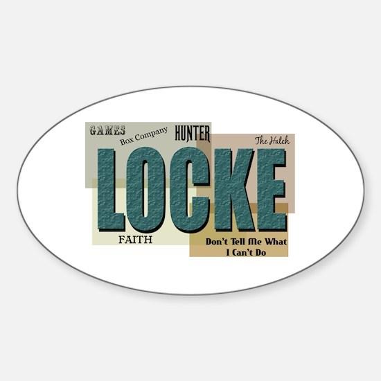 Locke Words Sticker (Oval)