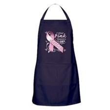 I Wear Pink Because I Love My Mom Apron (dark)