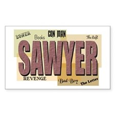 Sawyer Words Sticker (Rectangular)