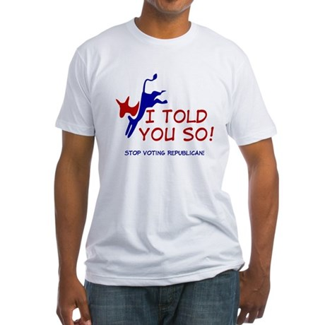 Liberal Progressive Dem Fitted T-Shirt