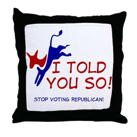 Liberal Progressive Dem Throw Pillow