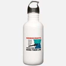 RUN AWAY COWARDS Water Bottle
