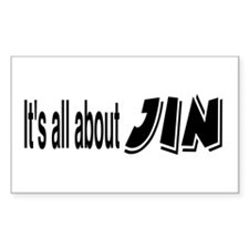 All About Jin Sticker (Rectangular)