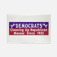 Liberal Progressive Dem Rectangle Magnet