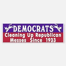 Liberal Progressive Dem Bumper Car Car Sticker
