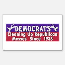 Liberal Progressive Dem Rectangle Decal