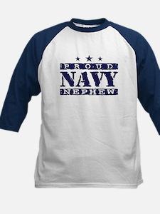 Proud Navy Nephew Kids Baseball Jersey