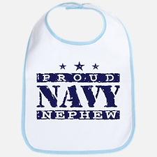 Proud Navy Nephew Bib