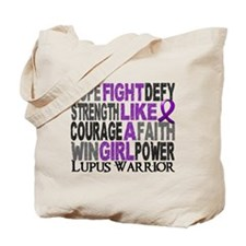 Licensed Fight Like A Girl 23.4 Lupus Tote Bag