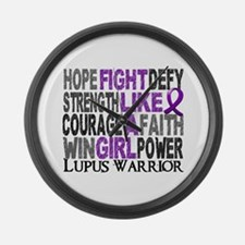 Licensed Fight Like A Girl 23.4 L Large Wall Clock