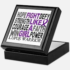 Licensed Fight Like A Girl 23.4 Lupus Keepsake Box