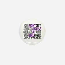Licensed Fight Like A Girl 2 Mini Button (10 pack)