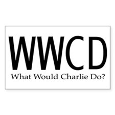 What Would Charlie Do Sticker (Rectangular)