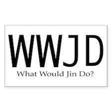 What Would Jin Do Sticker (Rectangular)