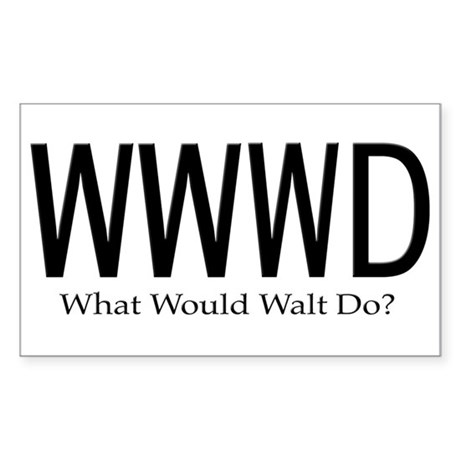 What Would Walt Do Sticker (Rectangular)