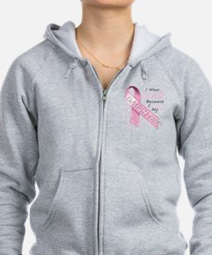 I Wear Pink Because I Love My Daughter Zip Hoodie
