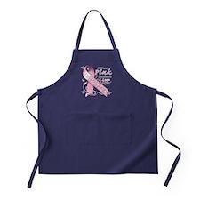 I Wear Pink Because I Love My Daughter Apron (dark