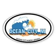 Ocean City NJ - Waves Design Decal