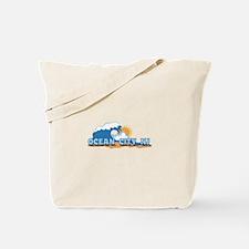 Ocean City NJ - Waves Design Tote Bag