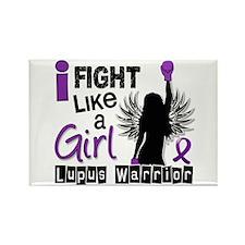 Licensed Fight Like a Girl 26.2 L Rectangle Magnet
