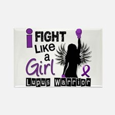 Licensed Fight Like a Girl 26.2 L Rectangle Magnet