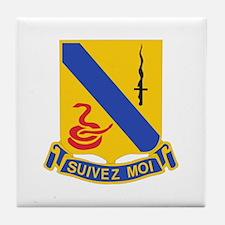 DUI - 1st Sqdrn - 14th Cavalry Regt Tile Coaster