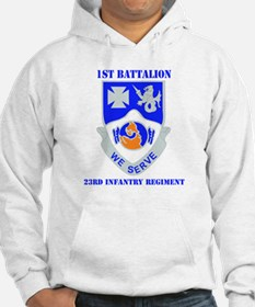 DUI - 1st Bn - 23rd Infantry Regt with Text Jumper Hoody