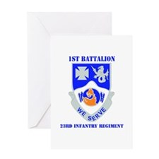 DUI - 1st Bn - 23rd Infantry Regt with Text Greeti