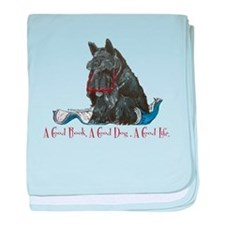 Scottish Terrier Book baby blanket
