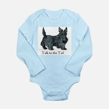 Scottish Terrier Attitude Long Sleeve Infant Bodys