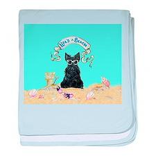 Scottish Terrier Summer baby blanket