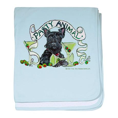 Scottish Terrier Martinis baby blanket