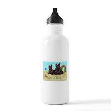 Life's a Beach Scottish Terri Water Bottle