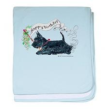 Scottish Terrier Birthday Dog baby blanket