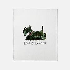 Scottish Terrier Leader Throw Blanket