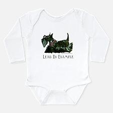 Scottish Terrier Leader Long Sleeve Infant Bodysui