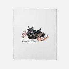 Scottish Terrier Play Time! Throw Blanket