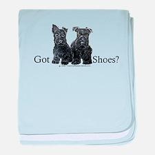 Scottie Puppies - Got Shoes baby blanket