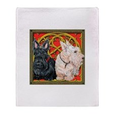 Scottish Terriers Celtic Dogs Throw Blanket