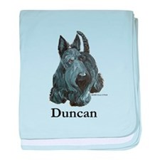 "Scottish Terrier ""Duncan"" baby blanket"