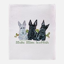 Scottish Terrier Trio Throw Blanket