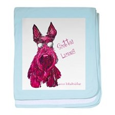 Scottish Terrier Scottielicio baby blanket