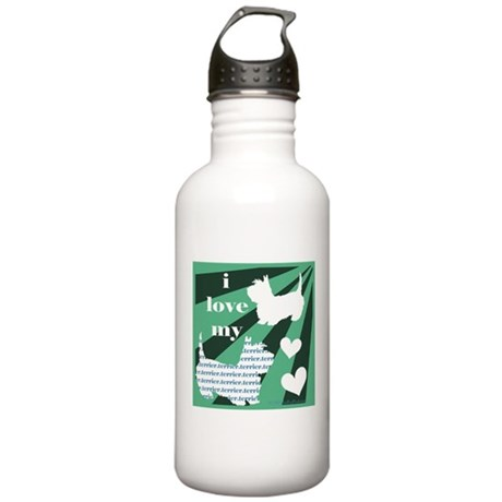Love my Terrier Stainless Water Bottle 1.0L