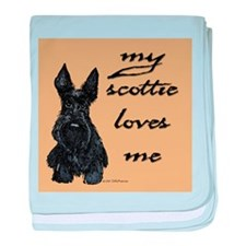 My Scottie loves me! baby blanket